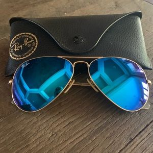 Ray-Ban blue flash 58mm aviators
